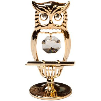 CRYSTOCRAFT Figurine Mini Hooded Owl