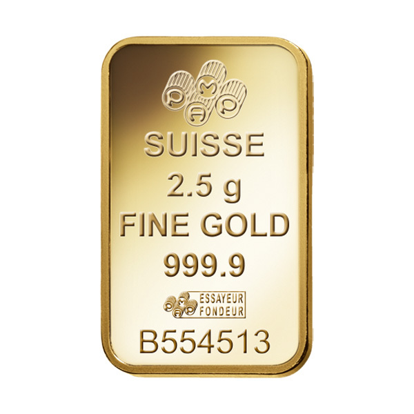 PAMP Fortuna Gold Ingot 2.5gmImage