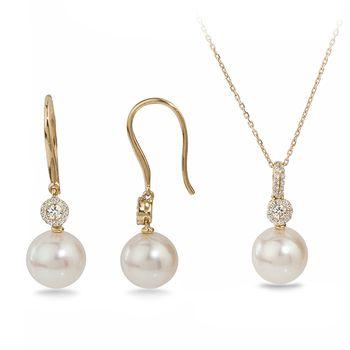 UMI Pearls ALIKA Diamond Pearl Set