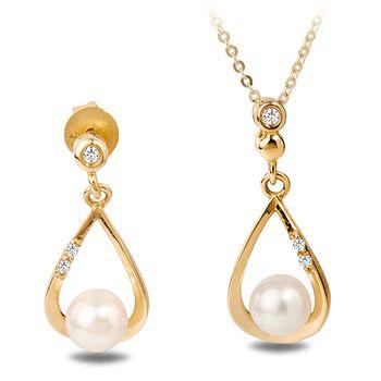 UMI Pearls ALINA Diamond Pearl Set