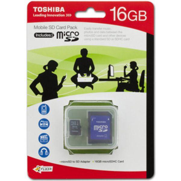 Toshiba microSDHC Class 4 Memory Card, 16GBImage