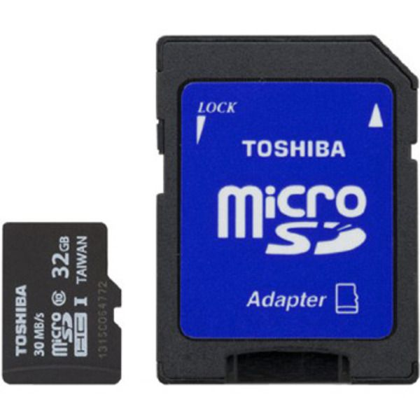 Toshiba microSDHC Class 4 Memory Card, 32GB Image