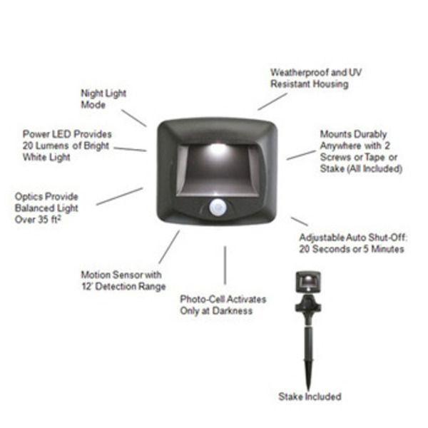 Mr Beams™ Motion-Sensor Path Lights, 2pcsImage