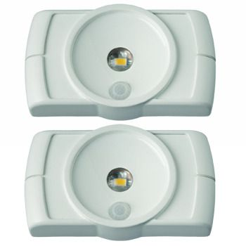 Mr Beams™ Motion-Sensor Indoor LED Slim Lights, 2pcs