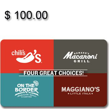 Brinker 4-Choice Gift Card $100