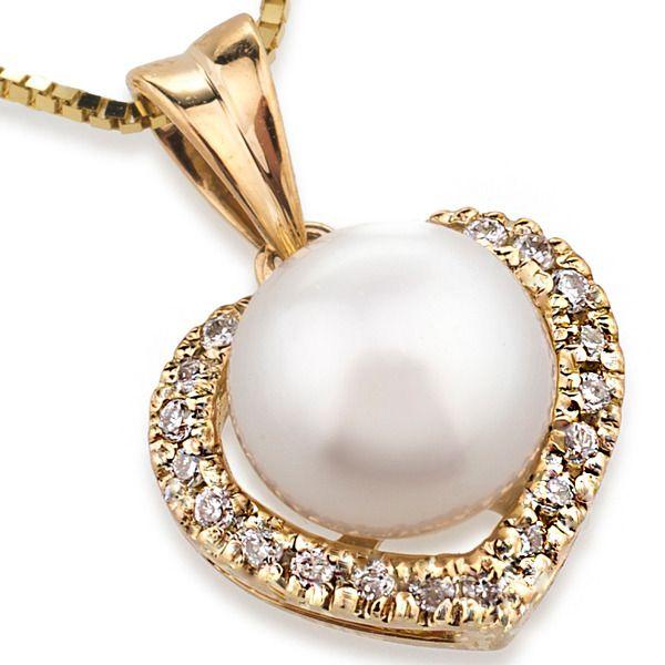 UMI Pearls DIAMOND HEART PendantImage