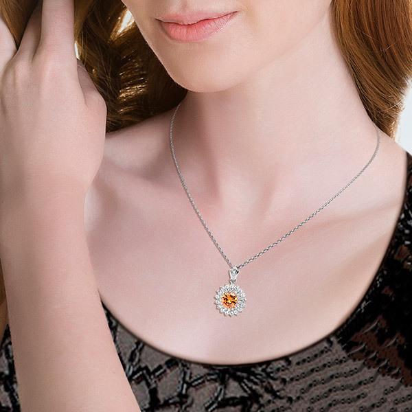 Pica LéLa Topas Crown Necklace & Earrings SetImage