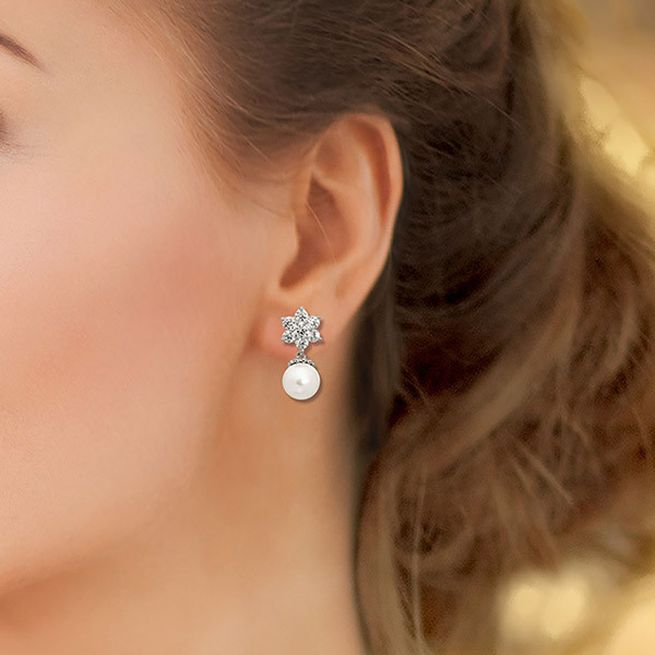 Pica LéLa Snow White Pearl EarringsImage