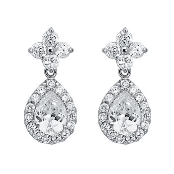 Pica LéLa Crystal Tear Drop Earrings