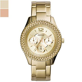Fossil STELLA Gold-Tone Ladies Multifunction Watch