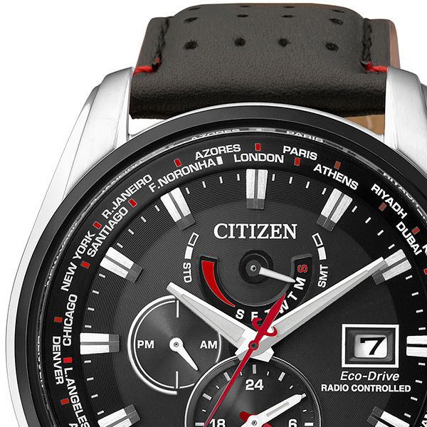 Citizen World Time A-T Gents Watch with Leather StrapImage