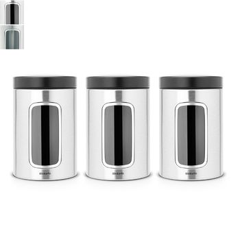 Brabantia Window Steel Canister Set 3pcs