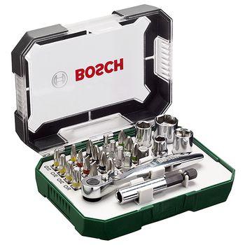 Bosch Screwdriver Bit and Ratchet Set 26pcs