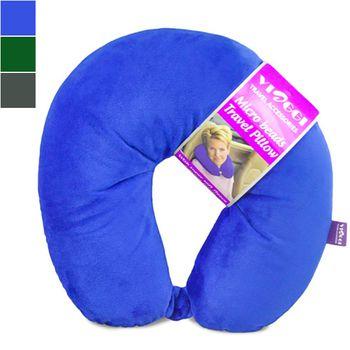 Viaggi Microbead Travel Neck Pillow with Fleece Cover