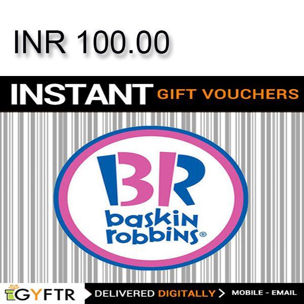 Baskin-Robbins GyFTR Instant Gift Voucher INR100 Image
