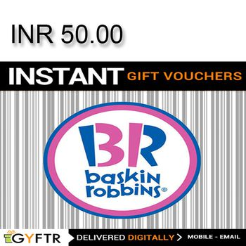 Baskin-Robbins GyFTR Instant Gift Voucher INR50