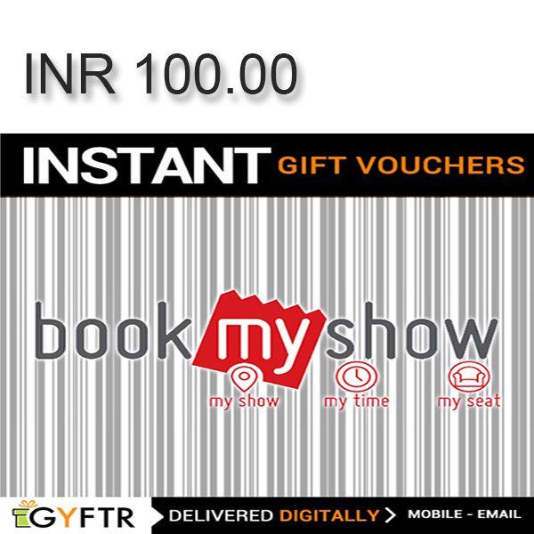 Bookmyshow.com GyFTR Instant Gift Voucher INR100 Image