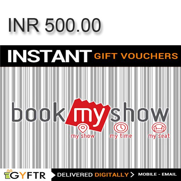 Bookmyshow.com GyFTR Instant Gift Voucher INR500 Image