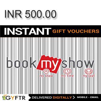 Bookmyshow.com GyFTR Instant Gift Voucher INR500