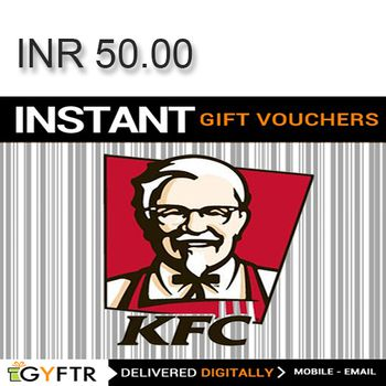 KFC GyFTR Instant Gift Voucher INR50