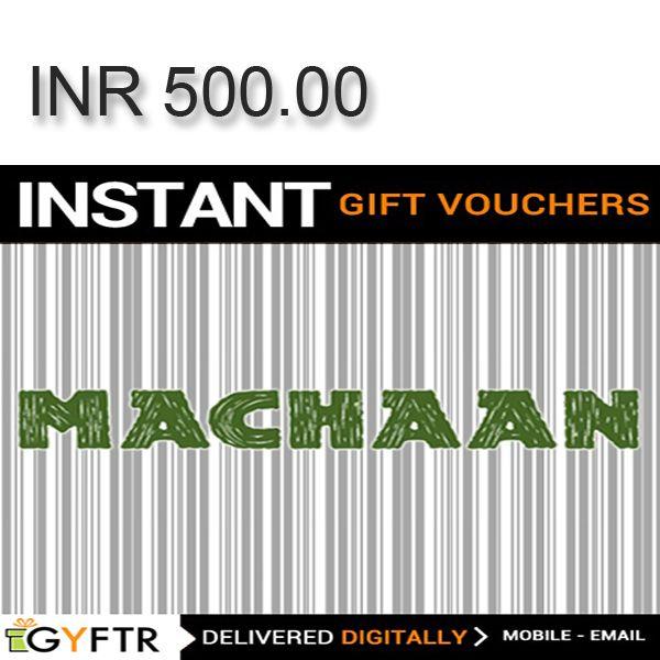 Machaan GyFTR Instant Gift Voucher INR500 Image