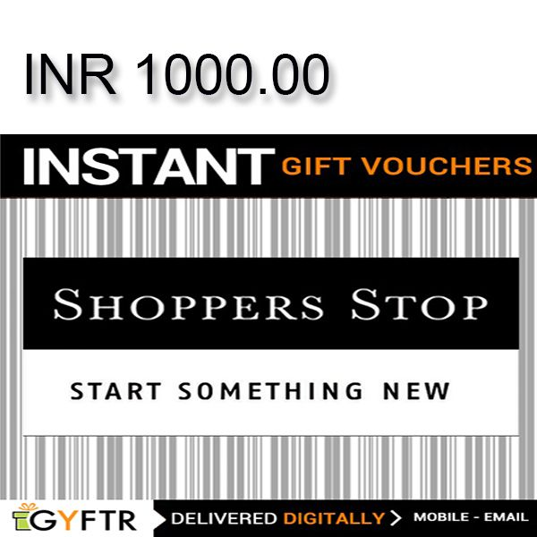 Shoppers Stop GyFTR Instant Gift Voucher INR1000Image