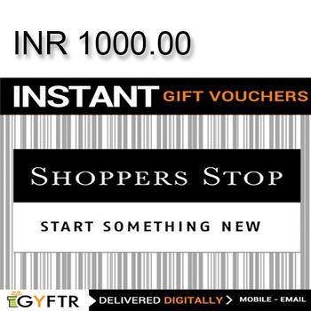 Shoppers Stop GyFTR Instant Gift Voucher INR1000