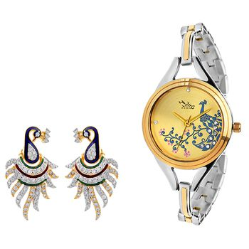 ILINA Ladies Watch & Earings Gift Pack 325TTPCTRCB