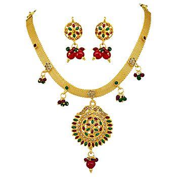 SURAT DIAMOND Spellbinding Polki Necklace & Earring Set