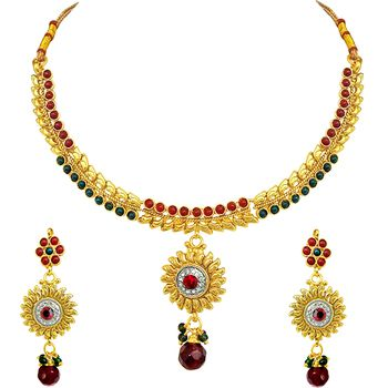 SURAT DIAMOND Polki Necklace and Earrings Set
