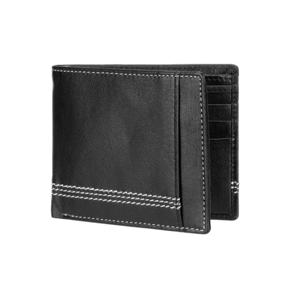 Teakwood Gents Leather Wallet Black Image