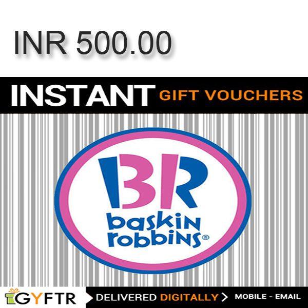 Baskin-Robbins GyFTR Instant Gift Voucher INR500 Image