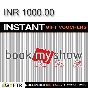Bookmyshow.com GyFTR Instant Gift Voucher INR1000