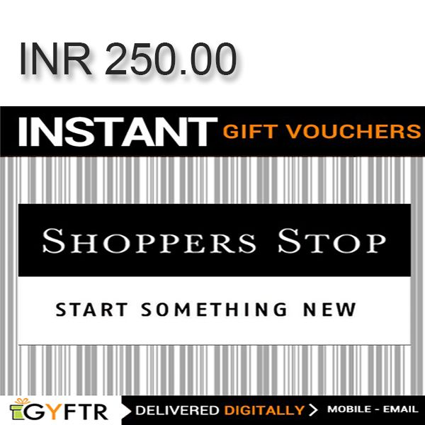 Shoppers Stop GyFTR Instant Gift Voucher INR250 Image