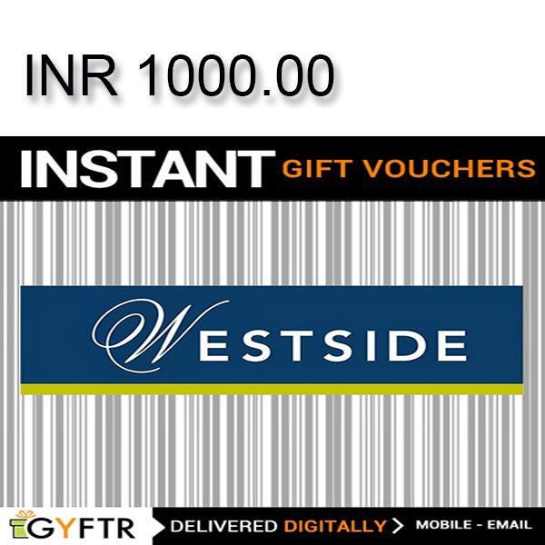 Westside GyFTR Instant Gift Voucher INR1000Image