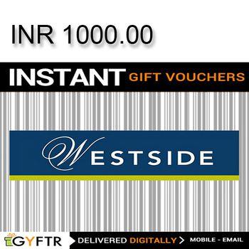 Westside GyFTR Instant Gift Voucher INR1000