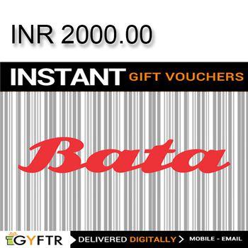 Bata GyFTR Instant Gift Voucher INR2000