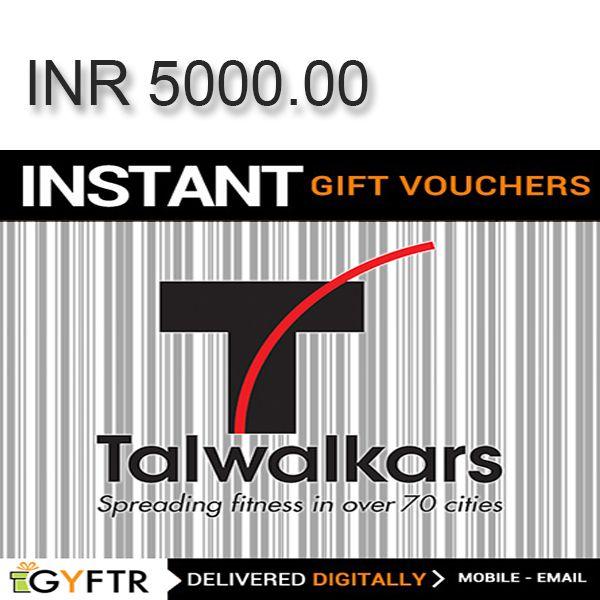 Talwalkars GyFTR Instant Gift Voucher INR5000 Image