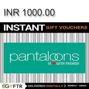 Pantaloons GyFTR Instant Gift Voucher INR1000