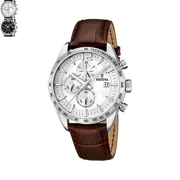 Festina DRESS Gents Chronograph with Leather Strap