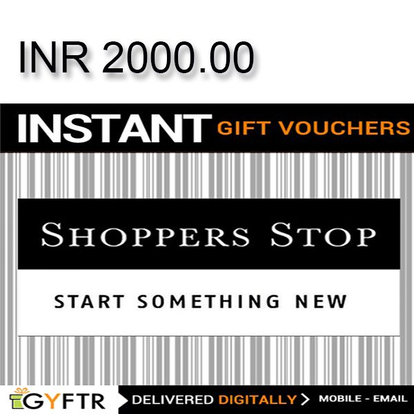 Shoppers Stop GyFTR Instant Gift Voucher INR2000 Image