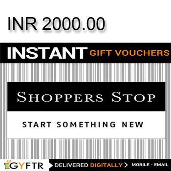 Shoppers Stop GyFTR Instant Gift Voucher INR2000