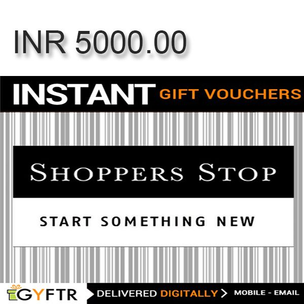 Shoppers Stop GyFTR Instant Gift Voucher INR5000 Image