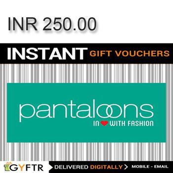 Pantaloons GyFTR Instant Gift Voucher INR250
