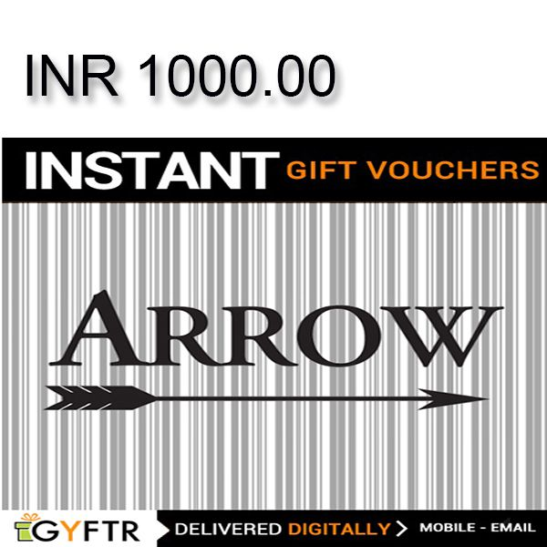 ARROW GyFTR Instant Gift Voucher INR1000 Image