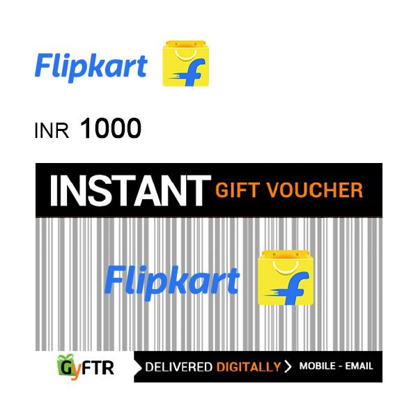 Flipkart GyFTR Instant Gift Voucher INR1000 Image