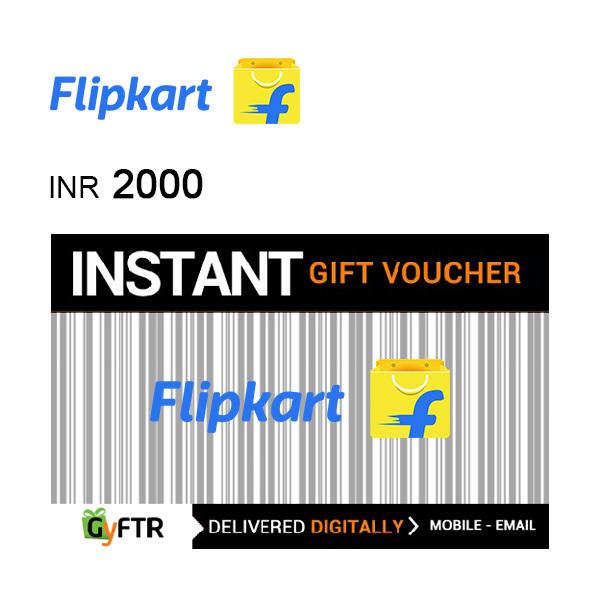 Flipkart GyFTR Instant Gift Voucher INR2000 Image