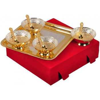 DivineHaat Dual Tone Serving Set 9pcs
