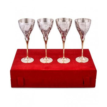 DivineHaat PAKIJA Wine Glasses Set 4Pcs