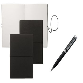 Hugo Boss BASIS A5 Notepad & Ballpoint Pen Set